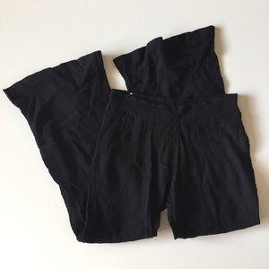 Old Navy Black Palazzo Wide Leg Cotton Pants L